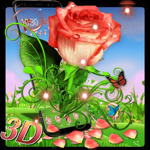 3D Vintage Rose Theme