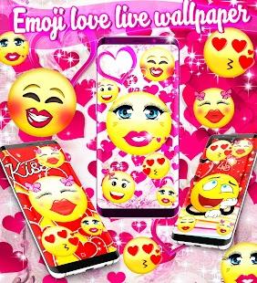 Emoji love live wallpaper - náhled