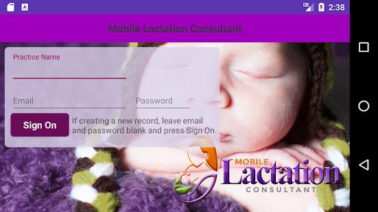 Mobile Lactation Consultant Client Portal - náhled