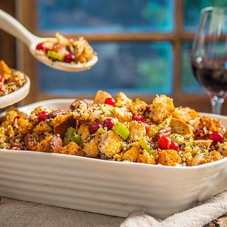Cranberry Gluten-free Quinoa stuffing.