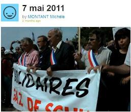 Photo: 07/05/11..Villeneuve de Berg..des milliers de citoyens ont réitérer leur refus des gaz de schiste et leur soutien à leurs maires. Leur détermination est intacte. http://vimeo.com/23546374