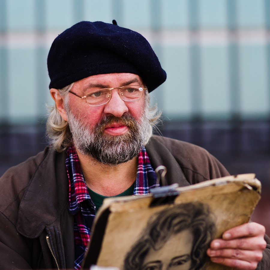 Creative Spirit by Samuel Clemens - People Portraits of Men ( draw, art, street, artist, drawing, man )