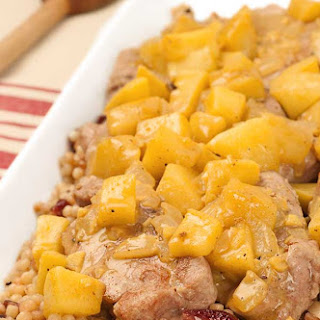 Pork Medallions with Chunky Apple Curry Recipe