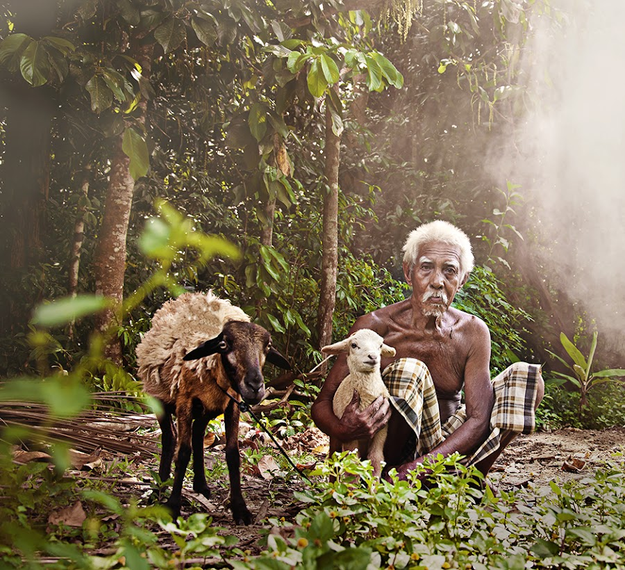 I and sheep by Mohd Idris Mazlan - People Portraits of Men