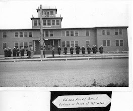 Photo: Chase Field Band in front of the Admin Bldg. 1943 Photo Courtesy Don Kochi