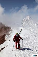 Photo: Roman is ready to explore volcano's smoke