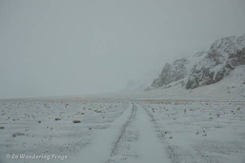 Travel to Tajikistan Pamir Highway and Wakhan Corridor // October Weather: Whiteout on the Pamir