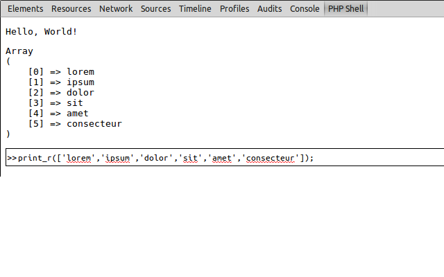 PHP shell
