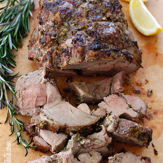 Roasted Boneless Leg of Lamb.
