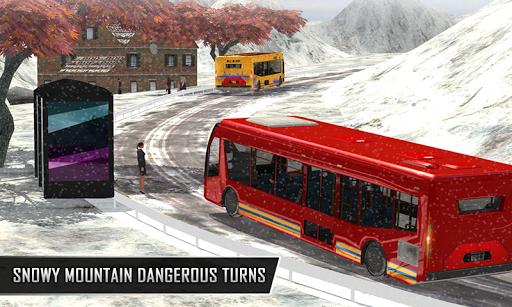 Snowy Bus Drive