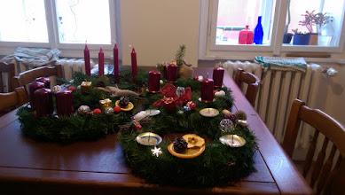 Photo: Príprava na advent - výroba věnců, 1. adv. neděle