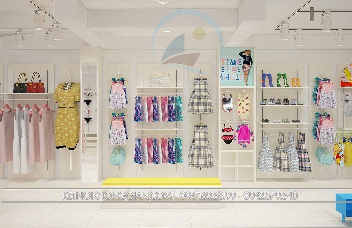 thiết kế shop thời trang mẹ và bé sáng tạo