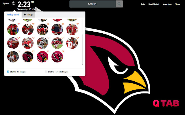 Arizona Cardinals New Tab Wallpapers