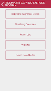 Baby Bod Exercise Tracker- screenshot thumbnail