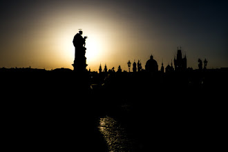 Photo: Sunrise (Charles Bridge, Prague)  #silhouettesaturday curator: +Naila Ziani +SilhouetteSaturday #sunrisesaturday