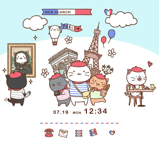 Cat Wallpaper-Kitties in Paris 1.0.0 Windows u7528 1