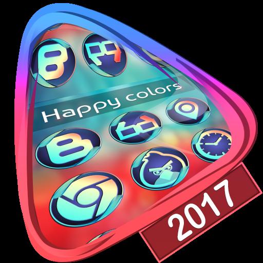 Happy colors Launcher 2017