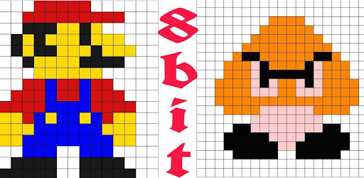 Enjoy pixel art drawing easily with our 8bit painter app.