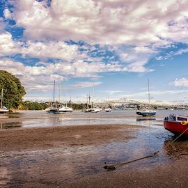 Little Shoal Bay, Auckland, NZ by Graeme Hunter - Transportation Boats
