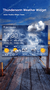 Thunderstorm Weather Widget - náhled
