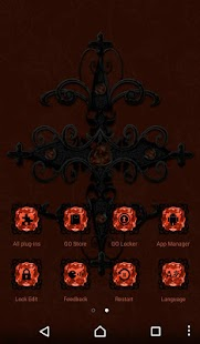 Free Orange Gothic Cross Go Launcher theme - náhled
