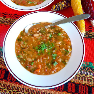 Roasted Tomato, Barley and White Bean Soup (recipe after the jump)