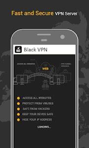 Black VPN Fast Hotspot Shield Free Unlimited Proxy 1.9