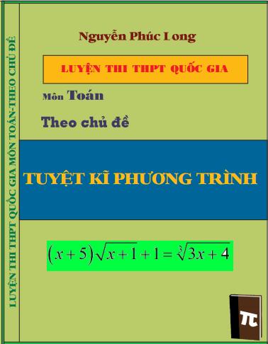 Luyện thi THPT Quốc Gia toán