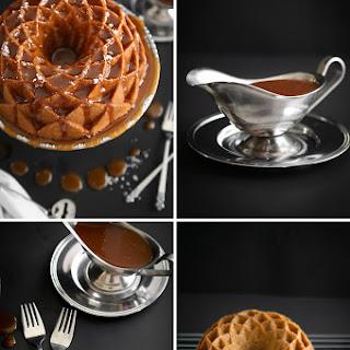 Salted Caramel Snickerdoodle Bundt Cake