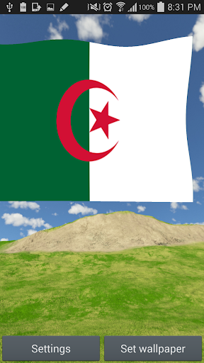 Algeria Flag Live Wallpaper 3D