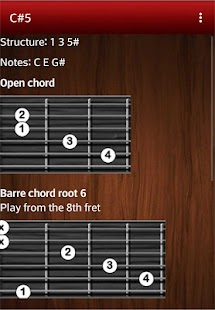 Chord and scale glossary- screenshot thumbnail
