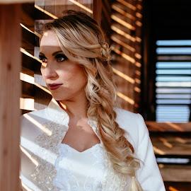 Bride by Bugarin Dejan - People Portraits of Women ( bride, photooftheday, wedding dress, pretty, wedding photography, portrait, eyes, colors, smile, hairstyle, beautiful, face, bestoftheday, wedding photos destination, shadows, wedding, photoshoot )