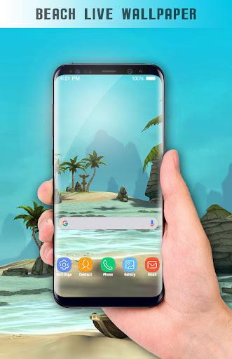 Beach Live Wallpaper HD Background: Island 3D 1.6 screenshots 9