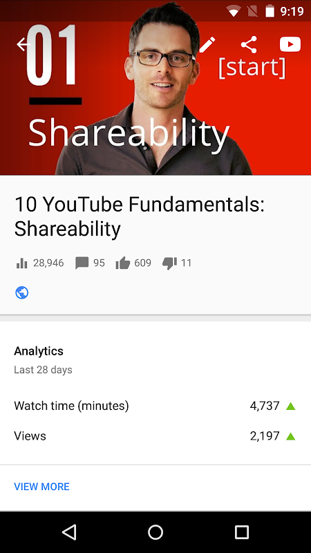 YouTube Studio screenshots