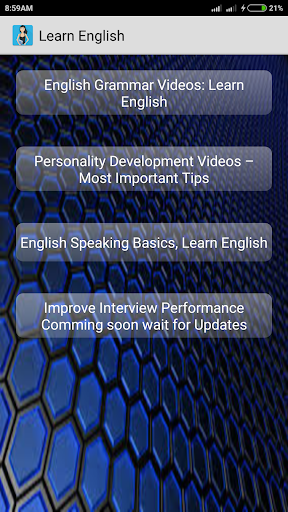 Learn English : Tuition