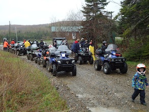 Photo: Sat, May 14/11 SBC ATV Day - 11:00 a.m. break at Dawson's Corner, home of the suave outhouse