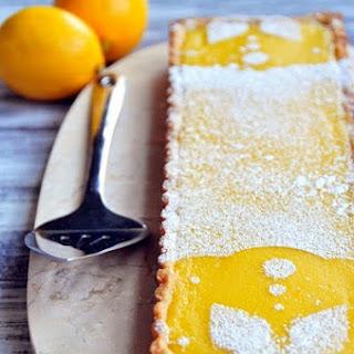 Meyer Lemon Tart with Almond Crust