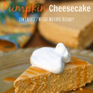 Low Calorie Slow Cooker Pumpkin Cheesecake.