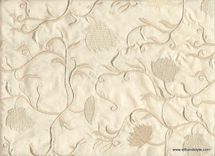 Photo: Mysore 30 - Tropical Series Embroidery - Cream