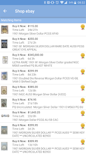 PCGS Price Guide- screenshot thumbnail