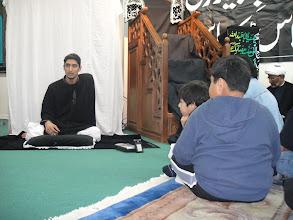 Photo: Jasim reciting at Momin center in Dallas, TX.