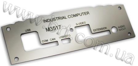 Photo: Панель для промышленного компьютера. Двухслойный пластик, лазерная гравировка