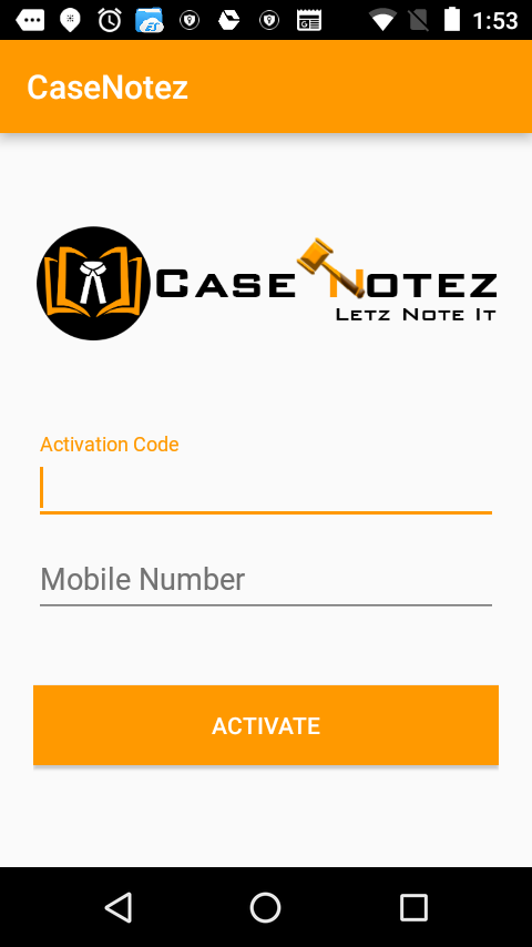 Case Notez- screenshot