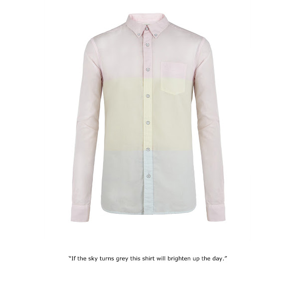 Photo: Tricolor Shirt>>  UK>http://bit.ly/MdwRdx US>http://bit.ly/Nhl1Nt  100% cotton long sleeve shirt. The Tricolor Shirt features engineered horizontal large scale candy stripes, a classic button down collar and white sprayed and chipped metal buttons. This style has been heavily laundered for a soft hand feel.