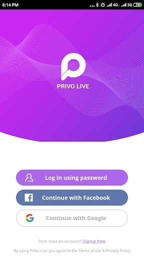 Privo Live screenshots 1