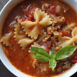 Fire Roasted Italian Turkey Soup