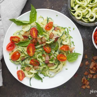 Creamy Bacon Zoodles Recipe
