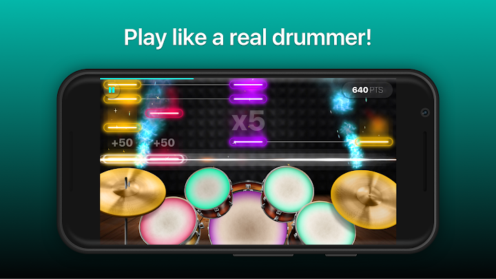 Drums: real drum set music games to play and learn Android App Screenshot