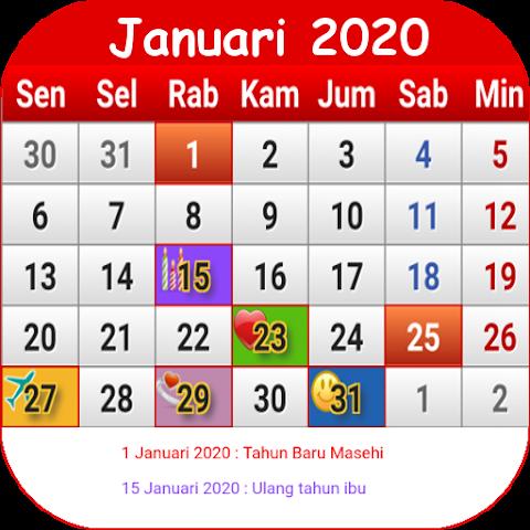 Download Gambar Kalender 2020