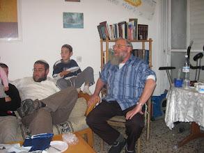 Photo: David giving a Dvar Torah